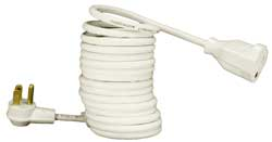 coiled extension cord 18 gauge 4 inches to 8 feet.